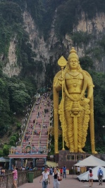 The front of Batu caves